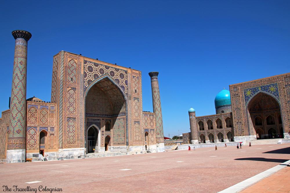 The Jewels of Samarkand - the Registan - Ulugbek Medressa (left)