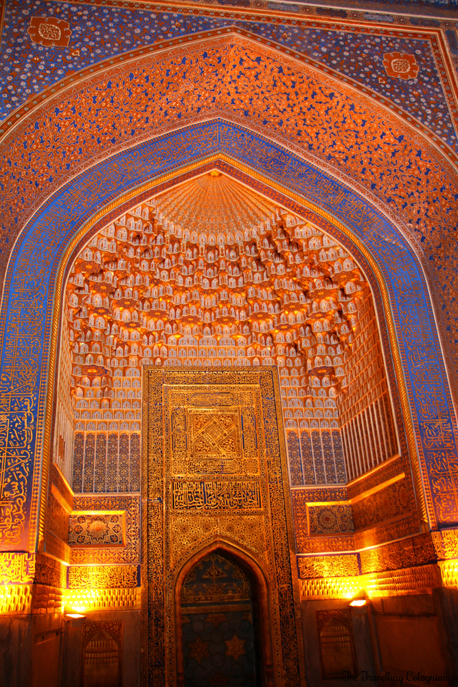 The Jewels of Samarkand - the Registan - Archway in the Friday Mosque of the Tilla Kori Medressa