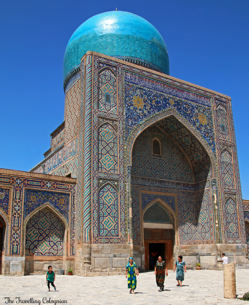 The Jewels of Samarkand - the Registan - Blue dome of the Tilla Kori Medressa