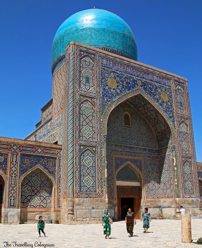 The Jewels of Samarkand - the Registan - Blue dome of the Tilla Kori Medressa