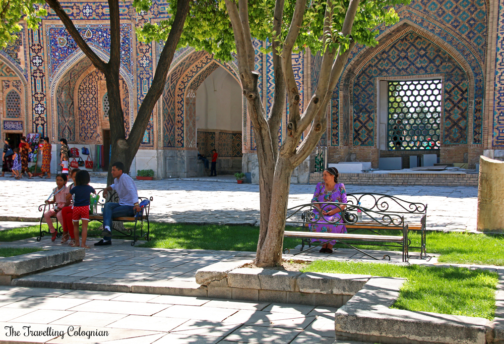 The Jewels of Samarkand - the Registan - Courtyard of the Tilla Kori Medressa