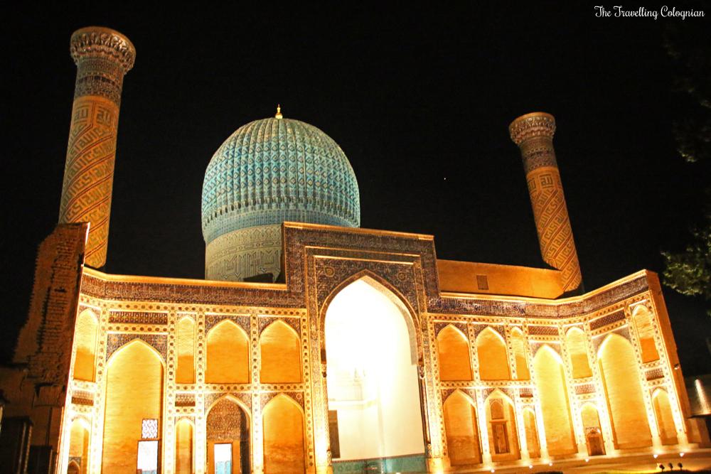 The Jewels of Samarkand - The illuminated Gur-E-Amir Mausoleum at night