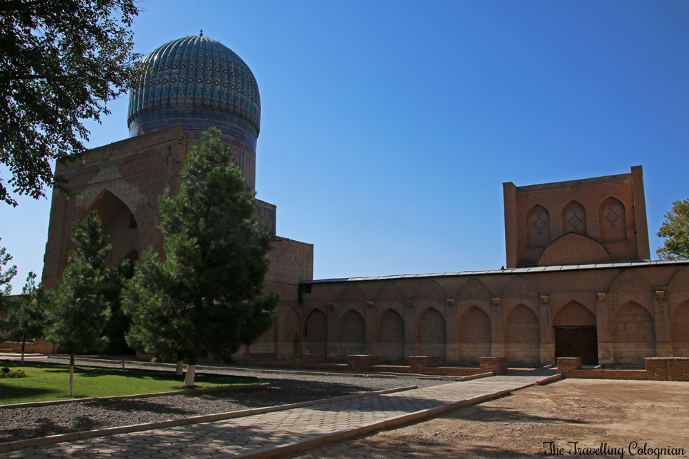 The Jewels of Samarkand - Bibi Khanym Mosque - One of the domes, seen from the courtyard