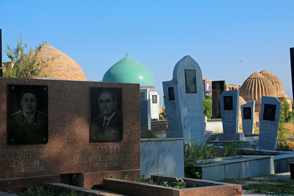 The Jewels of Samarkand - Entering Shah-i-Zinda via the cemetary