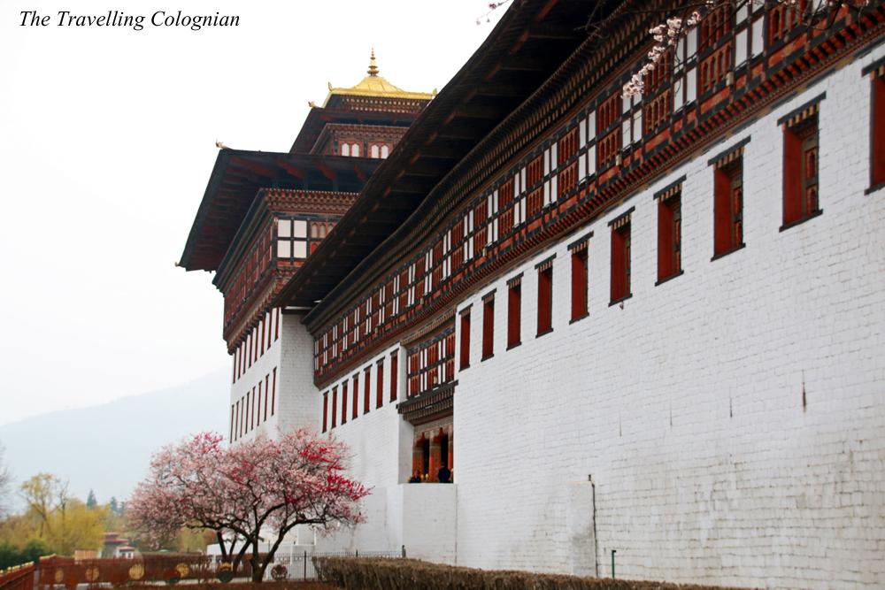 Bhutan Adventure Thimphu Dzong Tashichho Dzong Thimphu Bhutan Himalaya Asien