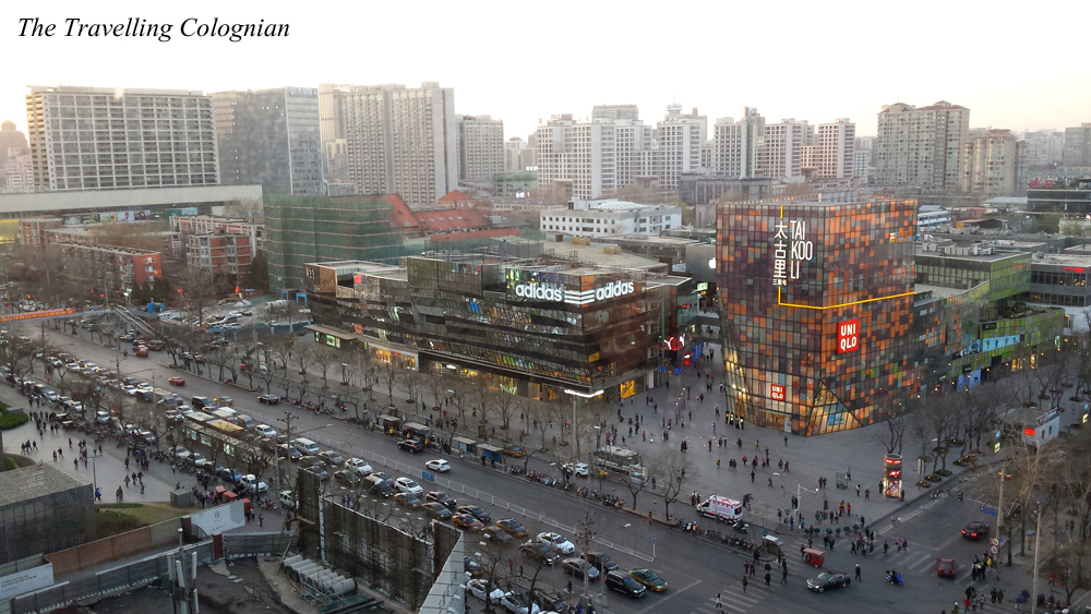 Travel blogger review View of Sanlitun from Hutong School Beijing China ASIA