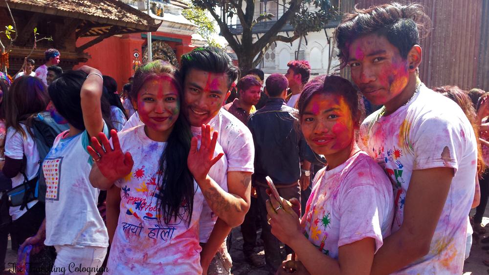 Reiseblogger-Rückblick 2017 Holi Festival Festival der Farben Kathmandu Nepal Himalaya Südasien ASIEN