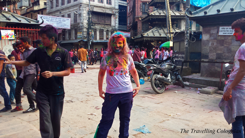 Travel blogger review 2017 Holi-Festival Festival of Colours Kathmandu Nepal Himalayas South Asia ASIA