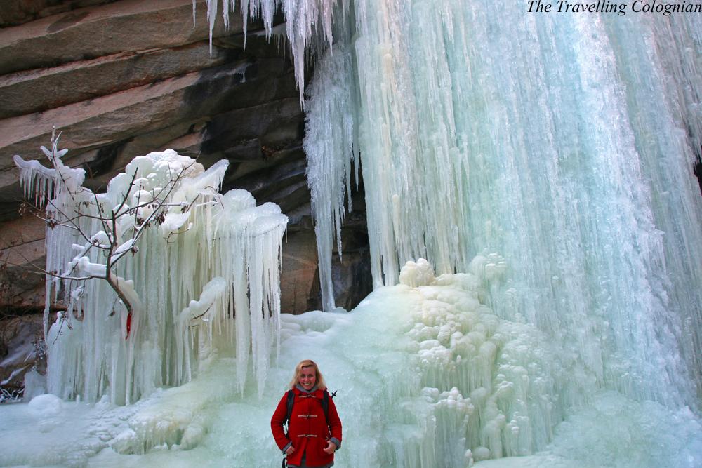 Reiseblogger-Rückblick 2017 Gefrorener Wasserfall Immortal Valley Loop-Wanderung Miyun-Distrikt China ASIEN
