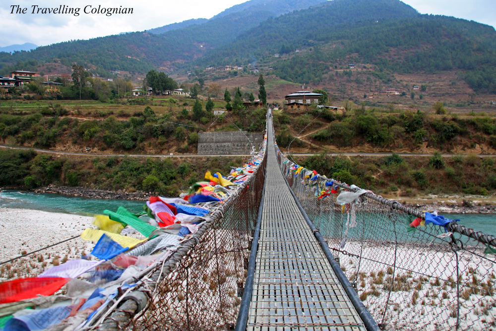 Travel blogger review 2017 longest suspension bridge of Bhutan Himalayas South Asia ASIA