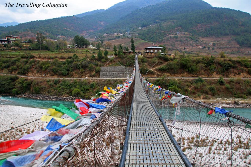 Reiseblogger-Rückblick 2017 Längste Hängebrücke Bhutans Phunaka Bhutan Himalaya Südasien ASIEN