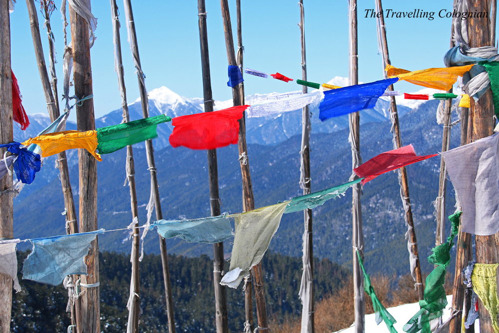 Travel blogger review 2017 Prayer flags Chele La Pass Bhutan Himalayas South Asia ASIA