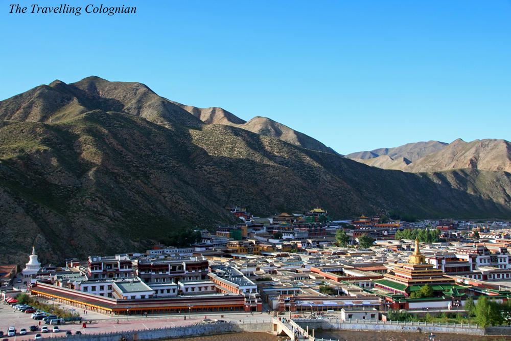 Reiseblogger-Rückblick 2017 Xiahe von oben Gansu China ASIEN