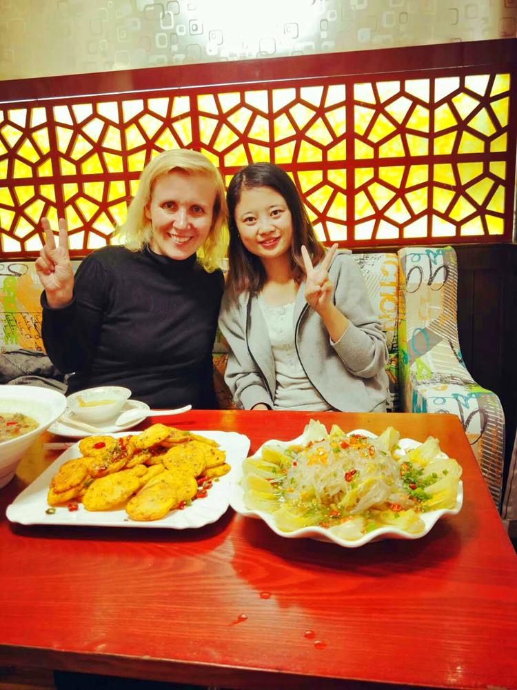 Tina und ich Xining Qinghai China ASIEN