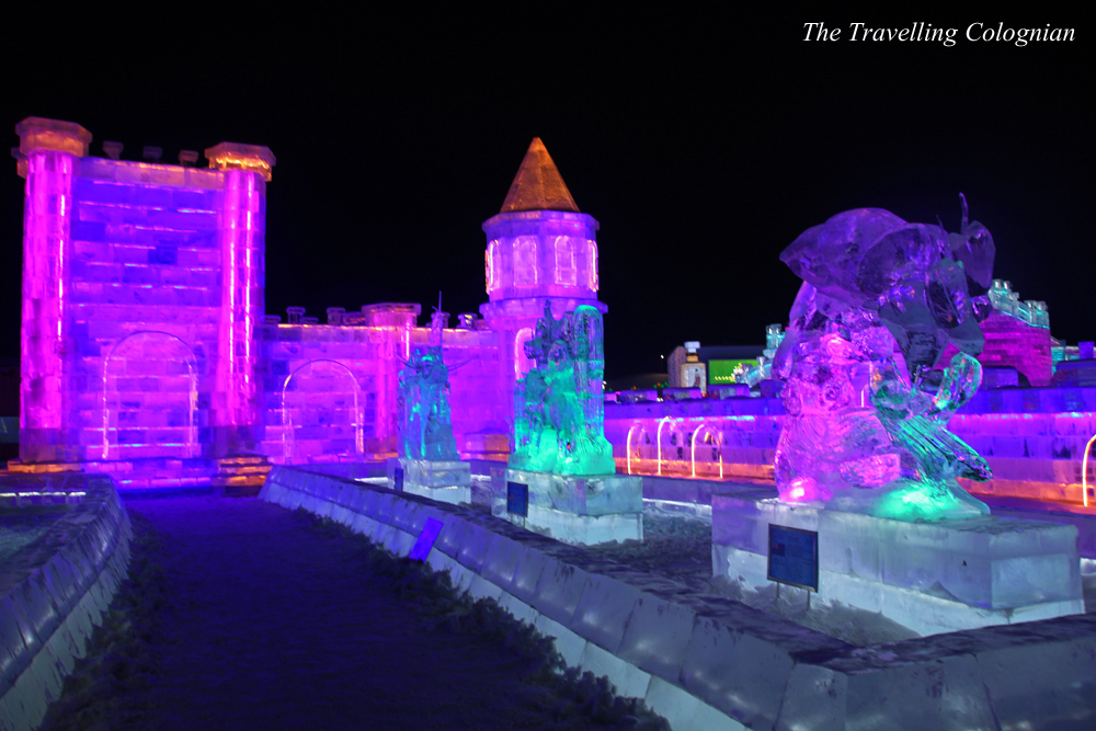 arbin Ice and Snow Festival Snow Sculptures on Sun Island Harbin Heilongjiang China ASIA