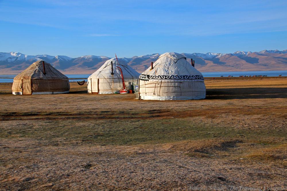 Jurten Songköl-See Kirgistan Zentralasien ASIEN