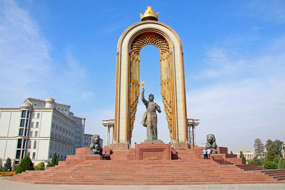 Das goldverzierte Ismail-Somoni-Monument Duschanbe Tadschikistan Zentralasien ASIEN