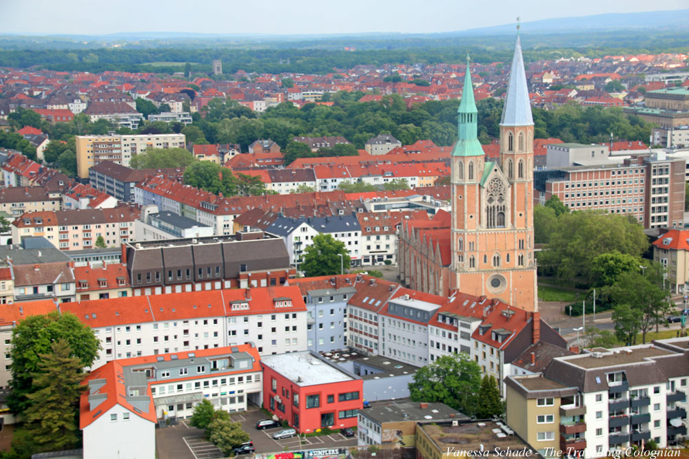 Church St. Katharinen from above South Tower of St. Andrew's Church Brunswick Lower Saxony Germany EUROPE
