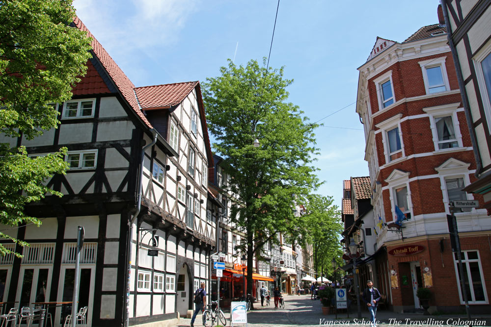 Half-timbered houses Magni Quarter Brunswick Lower Saxony EUROPE