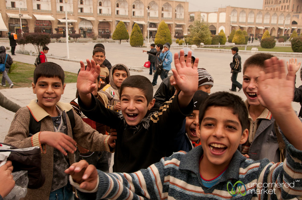 Iranische Jungen Isfahan Iran NAHER OSTEN PERSISCHER GOLF