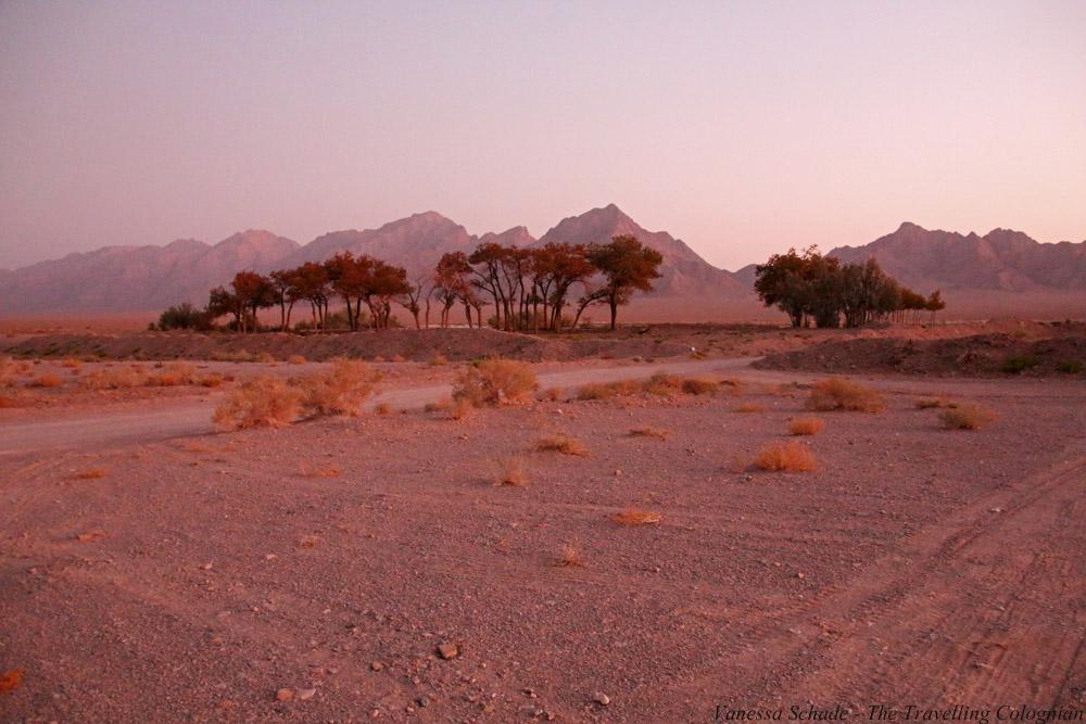 Karawanserei Zein-o-Din Sonnenuntergang Wüste Lut Iran NAHER OSTEN