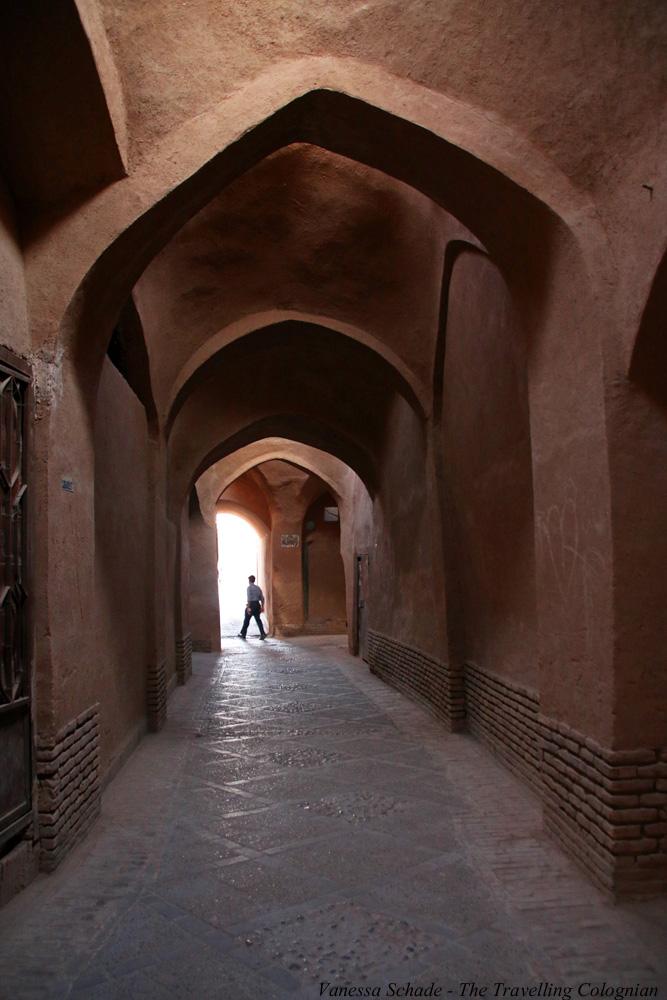 Mud brick alleys_old town_Yazd_Iran