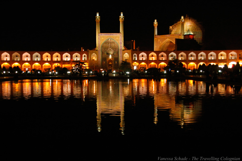 Shah Mosque_Imam Square_at_Night_Isfahan_Iran_MIDDLE_EAST